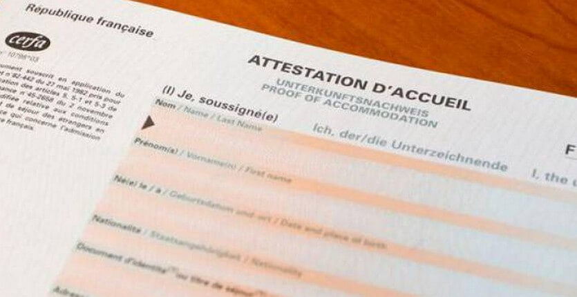 Attestation accueil