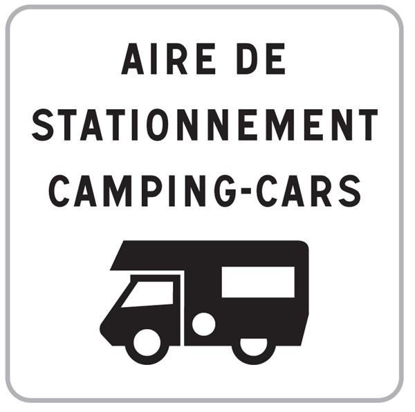 I grande 14085 panneau aire de stationnement camping net